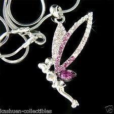 w Swarovski Crystal Fairy ~Purple TINKERBELL~ Tinker Bell Angel Pendant Necklace