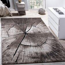 Large Rug Heavy Duty Quality Beige Grey Carpet Designer Wood Visual Effect Mat