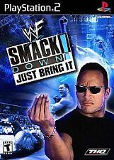 WWE SmackDown Just Bring It  (Sony PlayStation 2, 2002) -No Manual