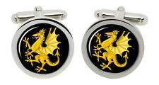 Somerset Dragon Round Cufflinks in Box