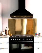 OTTONE lucido Designer Splashback PIASTRA per cucina fornelli, piani cottura Splash Back