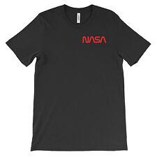 NASA T-Shirt, Text Logo. Cotton Tee on Black White or Gray. Space Astronaut NEW