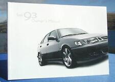 New Rare Original 2002 Saab 93 Handbook Owners Manual