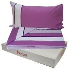 BIC RICAMI. Completo lenzuola, letto - 4851- Cotone 100%. Matrimoniale, 2 piazze