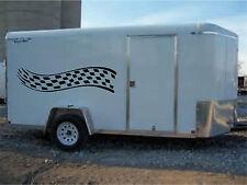 Race Car Cargo Trailer Four wheeler Trailer Truck  Graphic Kit Vinyl Decals