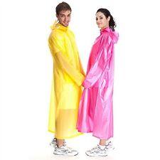 2x long EMERGENCY RAIN PONCHO WATERPROOF COAT CAPE MAC HOOD DISPOSABLE FESTIVALS