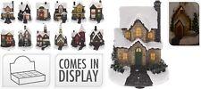 Decoración De Navidad De Adorno 12 Diseños Luz cubierto de nieve Casa de Navidad