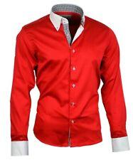 Herrenhemd Herren Hemd Satin Baumwolle Binder de Luxe NEU 80805 rot shirt