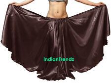 Coffee - Satin 16 Yard Double Circle Skirt Belly Dance Gypsy Tribal Flamenco