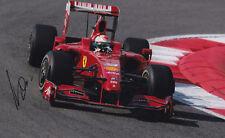 Famous F1 Driver Giancarlo Fisichella Signed Photo.