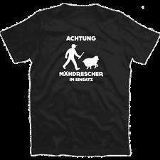 Achtung - Maehdrescher im Einsat - Schaafe Bauer Landwirt Schäfer T-Shirt S-XXXL