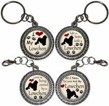 Lowchen Dog Key Ring Key Chain Purse Charm Zipper Pull Handmade #2