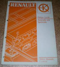Werkstatthandbuch Renault Autoradio Philips 2X6W 1992