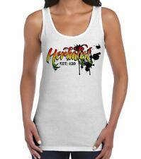 Herbalist Cannabis Reggae Women's Tank Vest Top - Rasta Weed Hydroponics