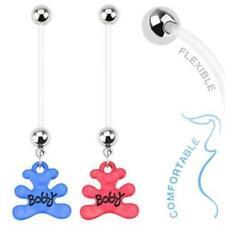 Belly Button Piercing Pregnancy Bio Flex Ptfe Baby Bear Pendant