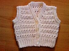 Handmade hand crocheted Baby Unisexe Gilet/Cardigan divers cols 100% acrylique