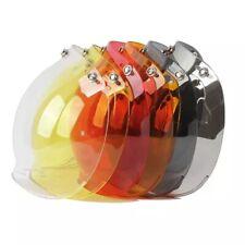 Open Face Helmet Bubble Visor Vintage Retro 3/4 Helmet Face Shield Lens 3-Snap