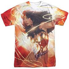 Wonder Woman Wonder Glow DC Comics Sublimation Licensed Adult T Shirt