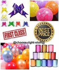 100 Metalique Coloré Ballons & Ballon Ruban Frisé Pour Fleuriste Anniversaire