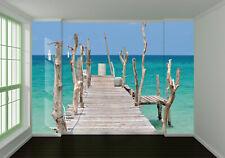 3D Sea Bridge 923 Wall Paper Wall Print Decal Wall Deco Indoor Wall