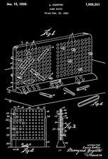 1935 - Battleship Game Board - L. Coffin - Patent Art Poster