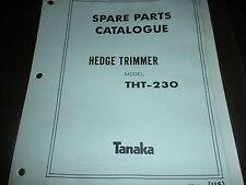 tanaka hedge trimmer THT-230 illustrated parts list,tanaka manual