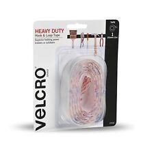 VELCRO® Brand HEAVY DUTY HOOK & LOOP TAPE Ultra Thin WHITE– 25mmx1m Or 50mmx2.5m