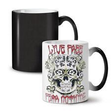 Free Life No Fear Skull NEW Colour Changing Tea Coffee Mug 11 oz   Wellcoda