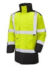 Leo Workwear tawstock A01 2 Tone HI VIS JAUNE NOIR Veste imperméable classe 3