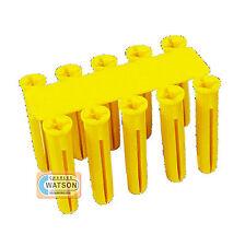 Caja de 100 Contratar plástico amarillo Enchufe De Pared Reparación