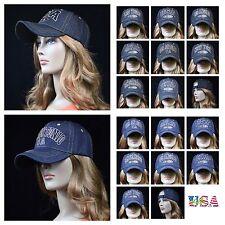 Men's Baseball Cap Hat Plain Denim Jean Hat Fashion Casual Hip Hop Dad Hats
