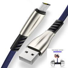 Cable Micro USB Charge Rapide Data Sync Nylon Tressé Samsung Sony LG HTC Asus Le