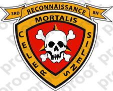 STICKER USMC UNIT   3RD RECONNAISSANCE BN