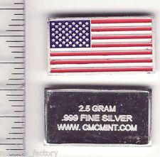 lingot d argent massif USA 2.5 grammes