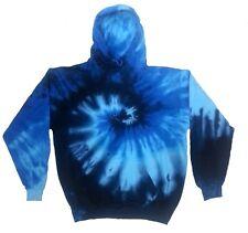 Tie Dye Hoodie Sweatshirt Blue Ocean S M L XL 2XL 3XL Pocket Colortone No Zipper