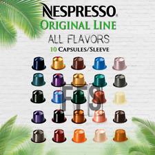Nespresso Coffee 10 Pods Original Line Capsules 1 Sleeve All Flavor Fresh Sealed