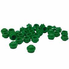 35 nuevos ladrillos LEGO Plate Round 1 x 1 Straight Side BRICKS Verde