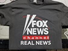 Fox News Channel Real News T-shirt clothing Trump Charcoal gray fake cnn msnbc