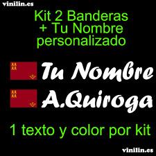 Pegatina Vinilo Bandera Murcia + Nombre Personalizado