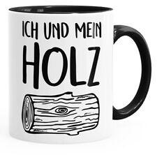Kaffee-Tasse Ich und mein Holz Holzi Tasse mit Innenfarbe MoonWorks®