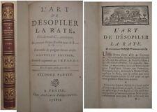 L ART DE DESOPILER LA RATE PANCKOUCKE 1773  Tome 2