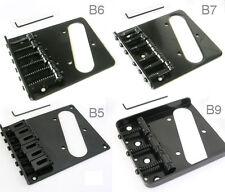 T Style Black Guitar Bridge 6 or 3 saddles B5, B6, B7, B9