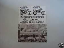 advertising Pubblicità 1976 MOTO MALANCA 125