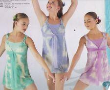 NEW Dance costume Lyrical Ballet tiedye dress over leotard 2 colors ladies