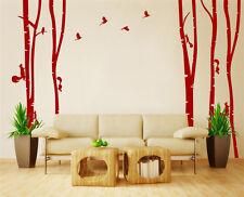 Mano Tallado de abedul de árboles forestales Bird pegatinas de pared de vinilo de decoración del Reino Unido rui189