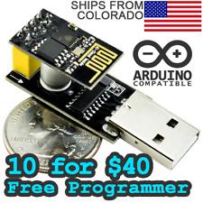 [10 x $40] ESP8266EX 802.11bgn WiFi Module w/ USB Programmer Adapter Arduino Pi