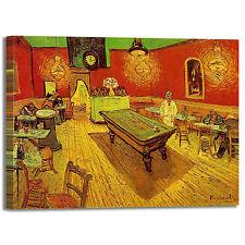 Van Gogh il caffè di notte design quadro stampa tela dipinto telaio arredo casa