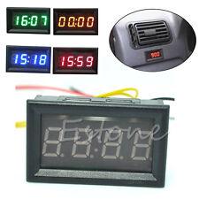 12V/24V Car Motorcycle Accessory Dashboard LED Display Digital Clock