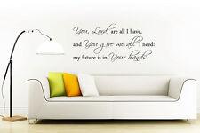 """Parete In Vinile Arte Adesivi Bibbia preventivo """"è Lord sono tutti ho"""" Salmo"""