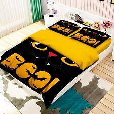 3D Yellow Cat 45 Bed Pillowcases Quilt Duvet Cover Set Single Queen King Au Cobb